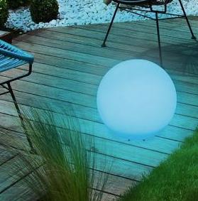 Niebieska kula solarna