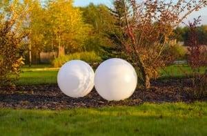Zestaw 3 kule solarne ogrodowe 30cm 40cm 50cm small 5