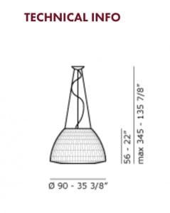 Lampa wisząca AXO Light Bell SP090  small 2