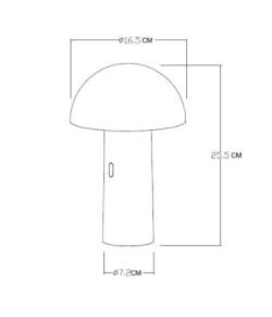 Lampa stołowa FUNGO pastelowy niebieski small 4