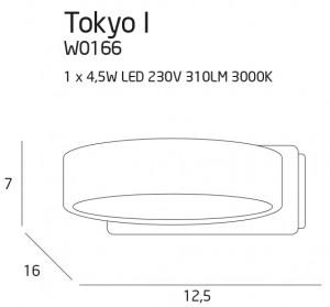 Tokyo I kinkiet biały small 1