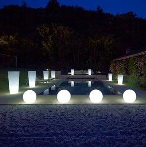 Zestaw 3 zewnętrznych lamp Kule ogrodowe - Luna Balls 30, 40, 50cm  small 2