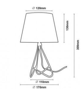 Lampa stołowa GITTA miedź small 2