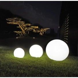 Zestaw dekoracyjne kule ogrodowe 25 cm 30 cm 40 cm + 3x Led RGB + Pilot small 1