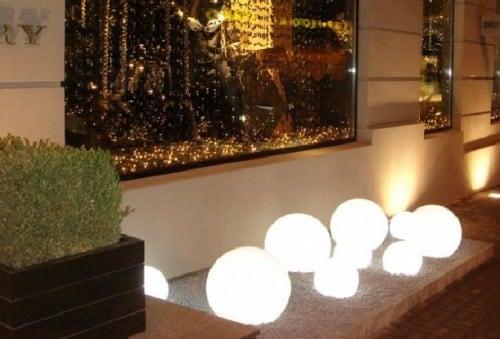 Zestaw dekoracyjne kule ogrodowe - Luna Balls 20, 25, 30, 40 cm + Żarówki Led 2