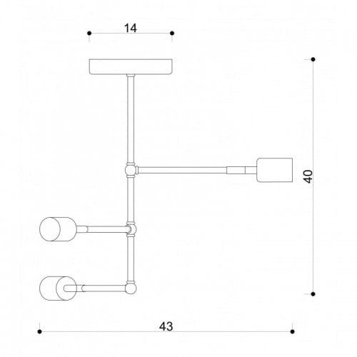 Lampa Industrialna sufitowa Loft Tubo 2  2