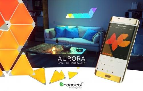 Elastyczne łączniki Nanoleaf Aurora Linkers  - montaż paneli pod kątem 3