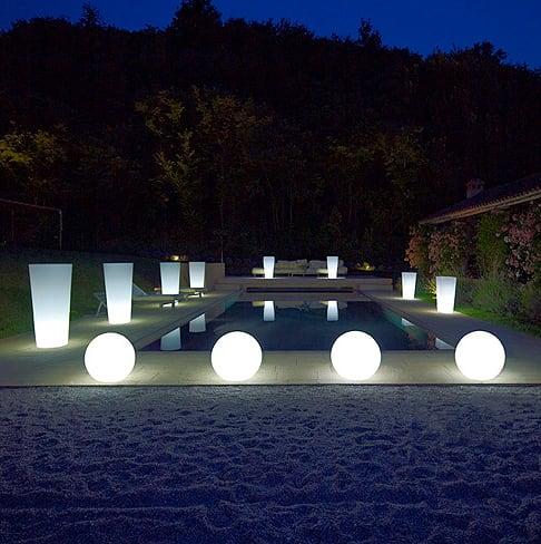 Zestaw dekoracyjne kule ogrodowe - Luna Balls 25, 30, 40 cm + Żarówki Led 2