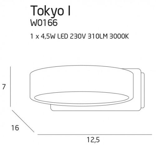 Tokyo I kinkiet biały 1