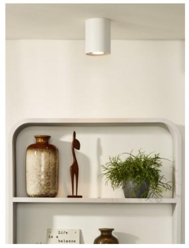 Lampa spot Tube Ø 9,6 cm biała