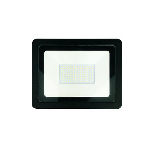 Czarny Naswietlacz Led 100 W. Barwa: 4500 K IP65