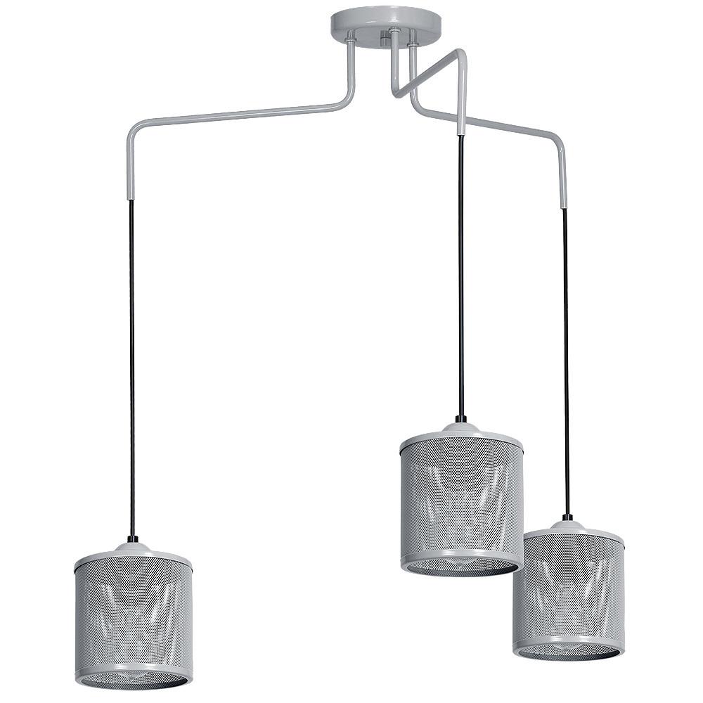 Lampa Wisząca Louise Grey 3x E27