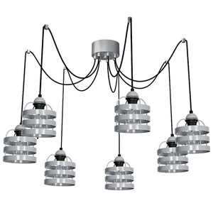 Szara Lampa Wiszaca Lars Grey 7x E27 small 0