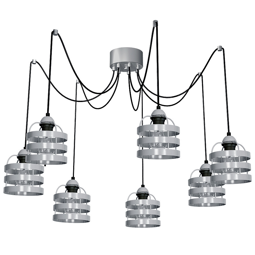 Szara Lampa Wiszaca Lars Grey 7x E27