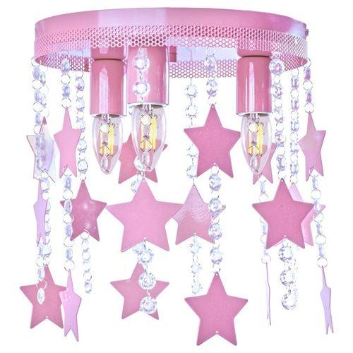Różowa Lampa Sufitowa Star 3x E27