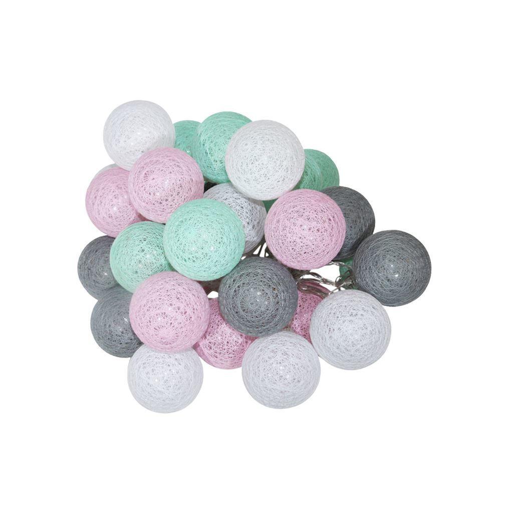 Wielokolorowe Kule Led Cotton Balls 230 V 30 Szt.