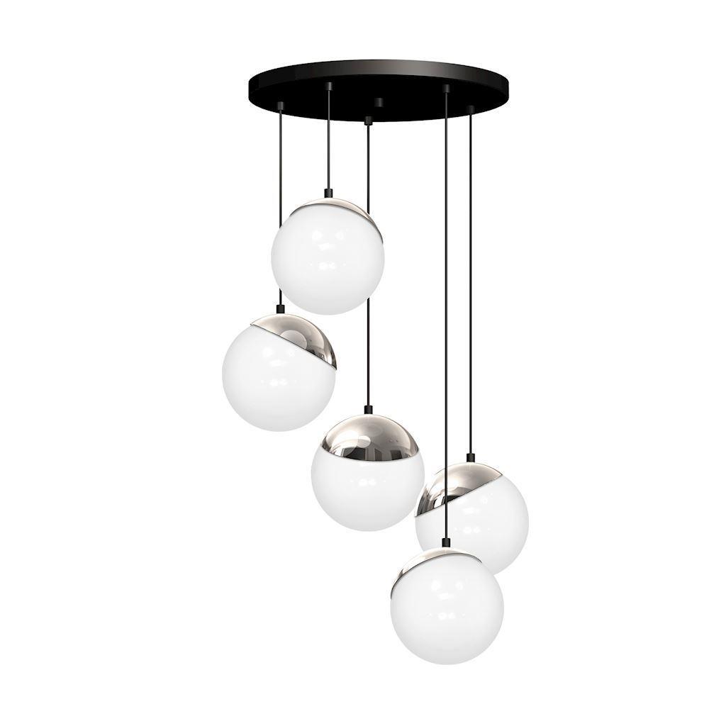 Chrom Lampa Wisząca Sfera 5x E14