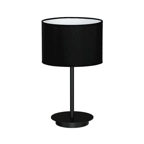 Czarna Lampka Stołowa Bari Black 1x E27