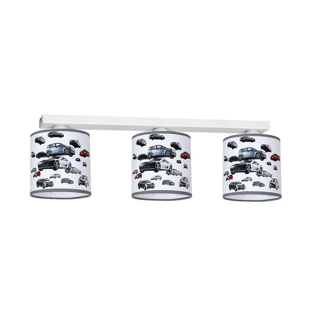Wielokolorowa Lampa Sufitowa Auto 3x E27