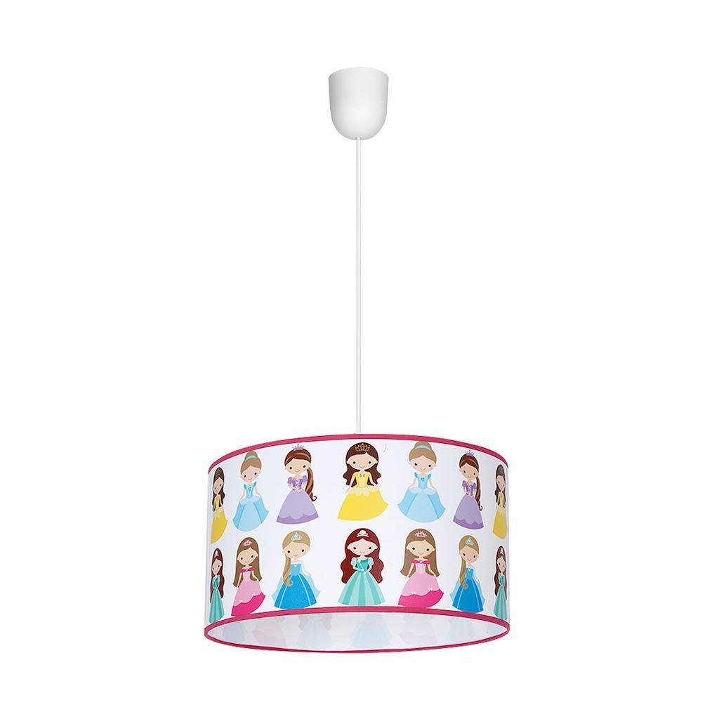 Wielokolorowa Lampa Wisząca Princess 1x E27