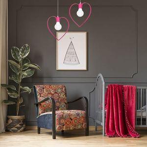 Różowa Lampa Wisząca Amore Dark Pink 1x E27 small 1