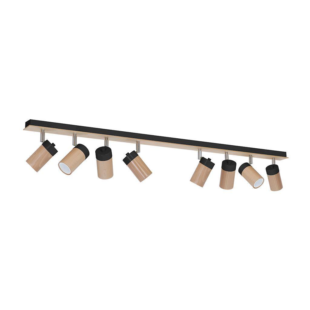 Czarna Lampa Sufitowa Baron Black 8x Gu10