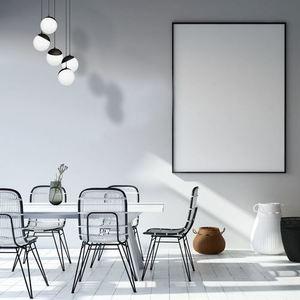 Czarna Lampa Wisząca Sfera Black 5x E14 small 1