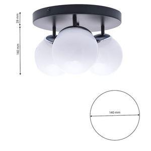 Chrom Lampa Sufitowa Sfera 3x E14 small 6