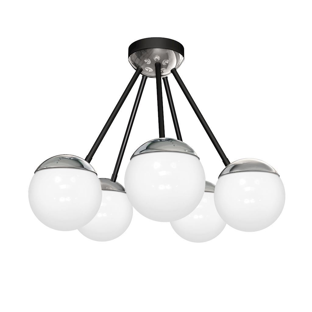 Chrom Lampa Sufitowa Sfera 5x E14