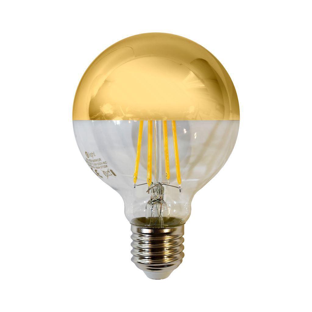 Żarówka Filamentowa Led 5,5 W G80 E27 Gold