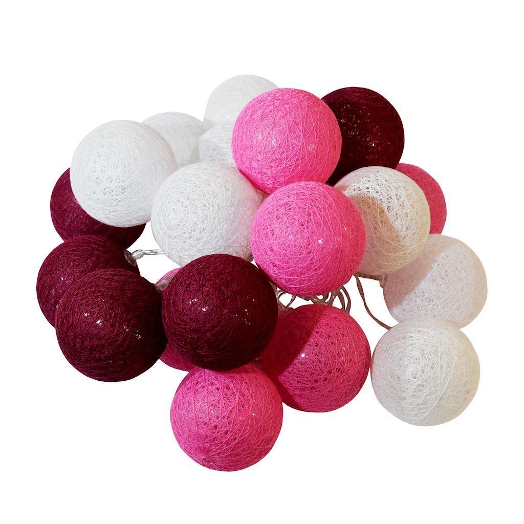 Wielokolorowe Kule Led Cotton Balls 20 Szt.