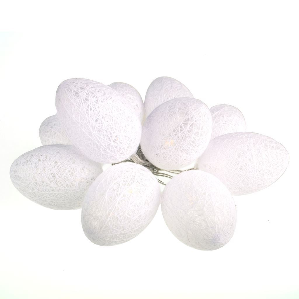 Bawełniane Jajka Wielkanocne Led Białe