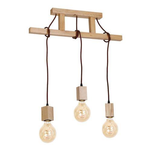 Drewno Lampa Wisząca Jack 3x E27