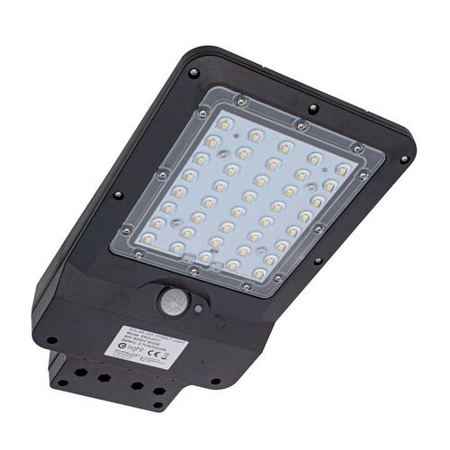 Czarna Lampa Solarna Street 8 W 4000 K IP65