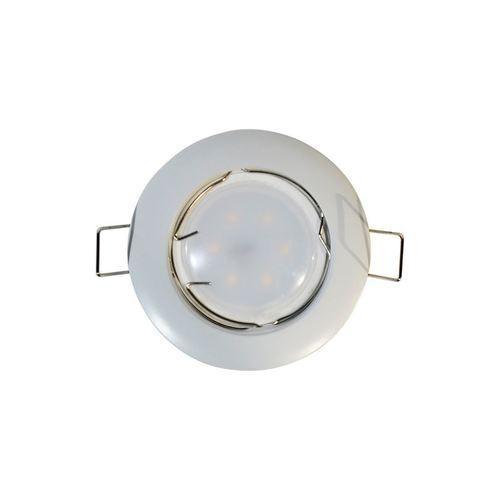 Biały Zestaw Oczko Sufitowe Cast Basic Białe + Żarówka 1,5 W Gu10 Gniazdo