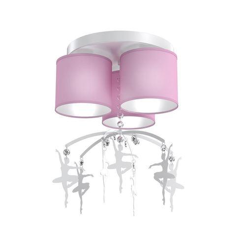 Różowa Lampa Sufitowa Baletnica Pink 3x E27
