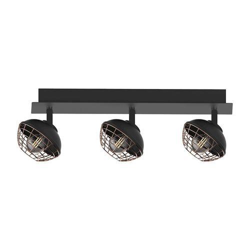 Czarna Lampa Sufitowa Logan 3x E14