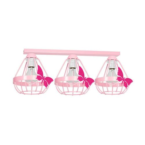 Różowa Lampa Sufitowa Kago Pink 3 Xe27