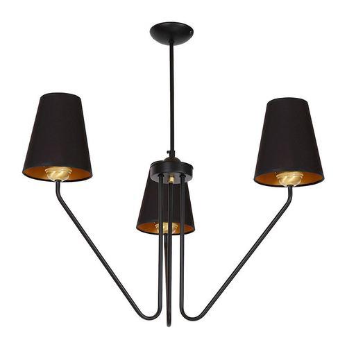 Czarny Żyrandol Victoria Black 3x E27