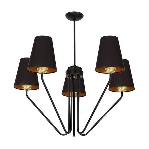 Czarny Żyrandol Victoria Black 5x E27