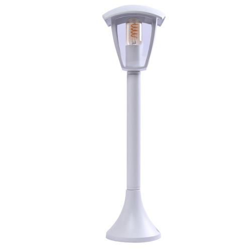 Biała Lampa Ogrodowa Stojąca Fox White1x E27 Duża IP44