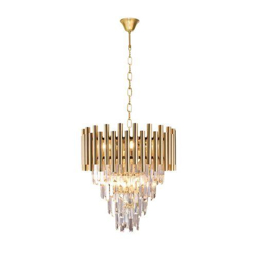 Kryształowy Żyrandol Madison Gold 9x E14