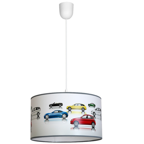 Wielokolorowa Lampa Wisząca Cars 1x E27
