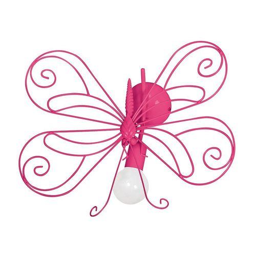 Różowy Kinkiet Motyl 2 Dark Pink 1x E27