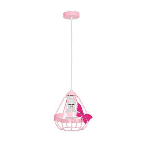 Różowa Lampa Wisząca Kago Pink 1 Xe27