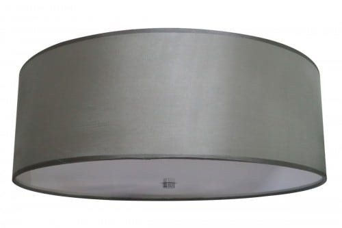 Modernistyczny Okrągły Szary Plafon GIRONA