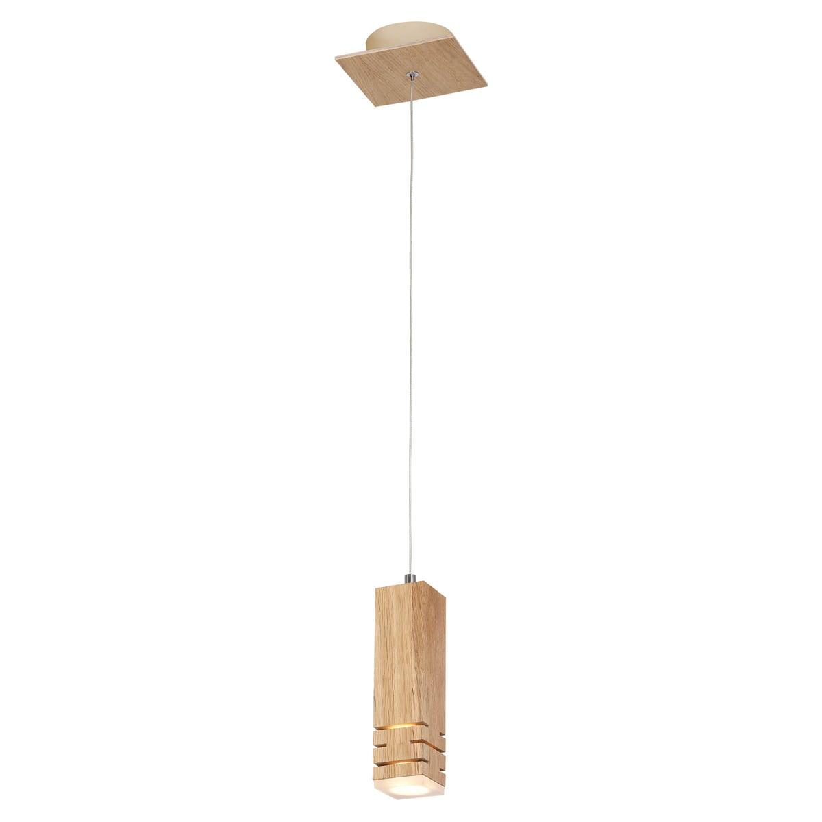 Lampa wisząca Milagro BERGEN 574 Naturalne drewno 5W
