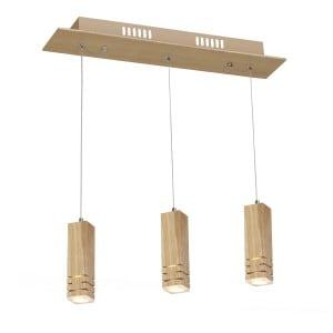 Lampa wisząca Milagro BERGEN 576 Naturalne drewno 15W