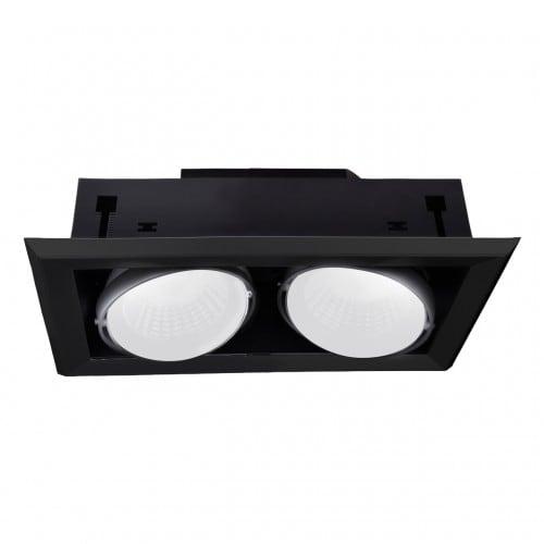 Oprawa wpuszczana Milagro BLOCCO 475 Czarny LED 2 x 7W 3000K