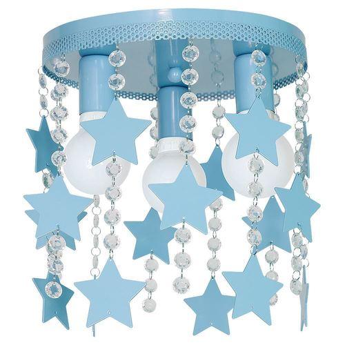 Niebieska Lampa Sufitowa Star 3x E27